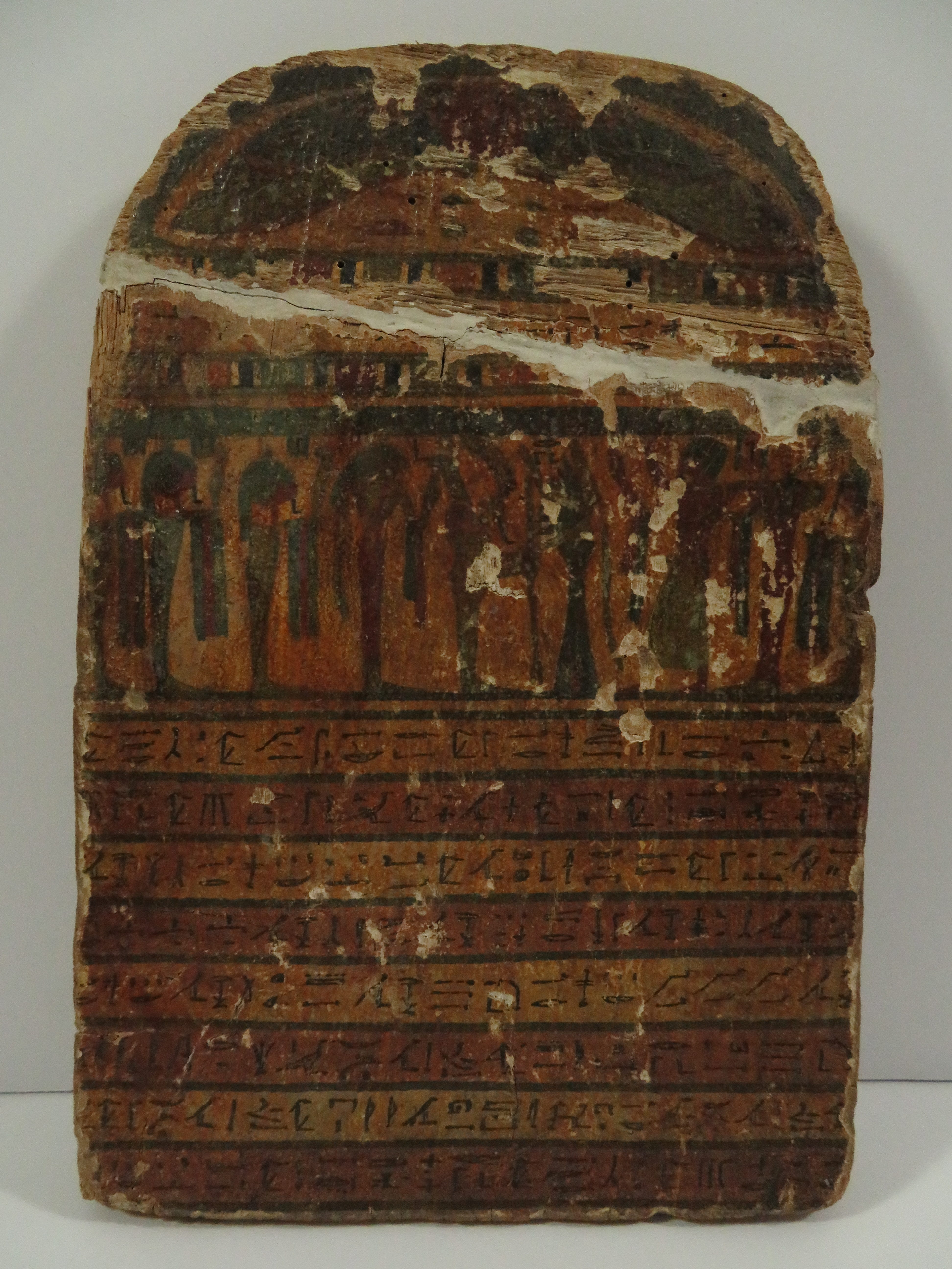Egyptian painted wood grave stele horemheb east coast for Graue stuhle